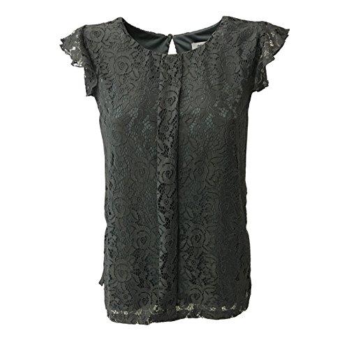 DRY LAKE camicia donna senza manica pizzo grigio mod LORNA BLOUSE