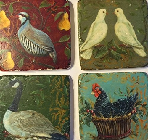 coldwater-creek-twelve-days-coasters-includes-4-ceramic-coasters-3-3-4-x-3-3-4-inches