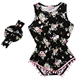 Messy Code Baby Girls Rompers Onesies Pompom Jumpsuits Sleeveless Clothing Sets with Leg Warmers and Headband