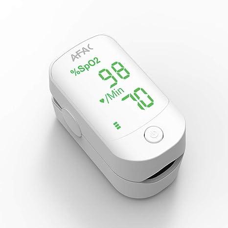 AFAC Oximetro Dedo Profesional, Pulsioximetro de Dedo, Medición de Frecuencia Cardíaca la Saturación de Oxígeno, Para el Cuidado de la Salud Familiar, ...