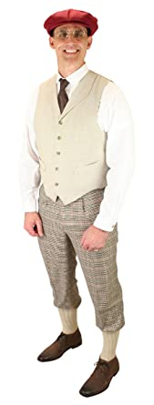1930s Men's Clothing Pierce Plaid Knickers $64.95 AT vintagedancer.com