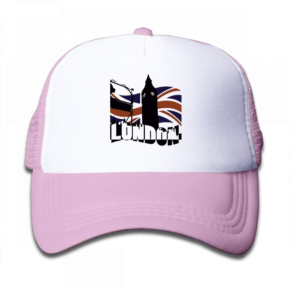NO4LRM Kid's Boys Girls London Youth Mesh Baseball Cap Summer Adjustable Trucker Hat by NO4LRM (Image #1)