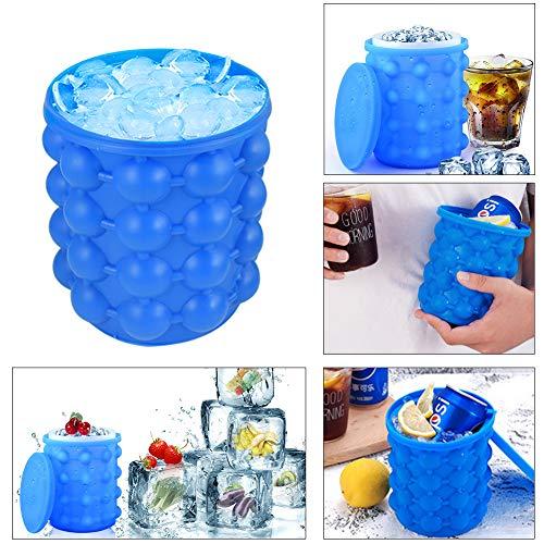 Silicone Ice Cube Magic Mold Maker Revolutionary Space Saving Ice Tray Bucket
