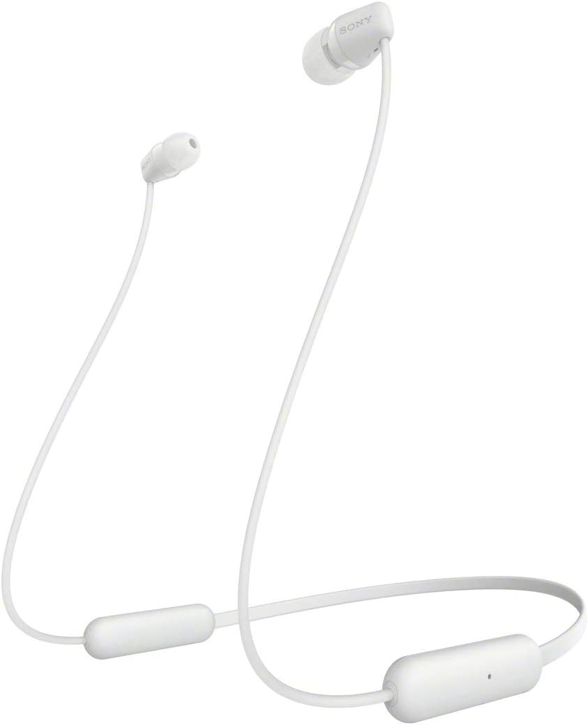 SONY WI-C200 Wireless Bluetooth Headphones - White