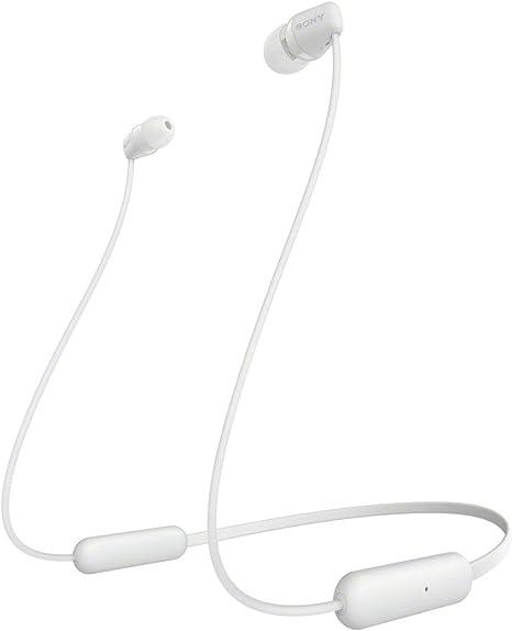 Sony WI-C200 - ¿Muchas Llamadas y videollamadas Desde casa? Descubre Nuestros Auriculares In-Ear inalámbricos más Ligeros con hasta 15h de autonomía, Blanco: Amazon.es: Electrónica