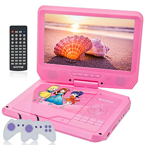 WONNIE 11.5'' Kids DVD Player Portable with 9.5'' Swivel Scr