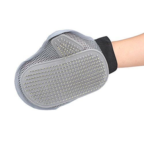 German Shepherd Labrador Retriever (Parateck® Dogs Grooming Brush Deshedding Glove for Labrador Shepherd Bulldog Golden Retriever Beagles Yorkshire)