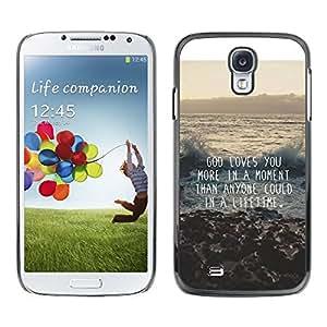 FlareStar Colour Printing God Motivational Quote Inspiration cáscara Funda Case Caso de plástico para SAMSUNG Galaxy S4 IV / i9500 / i9515 / i9505G / SGH-i337