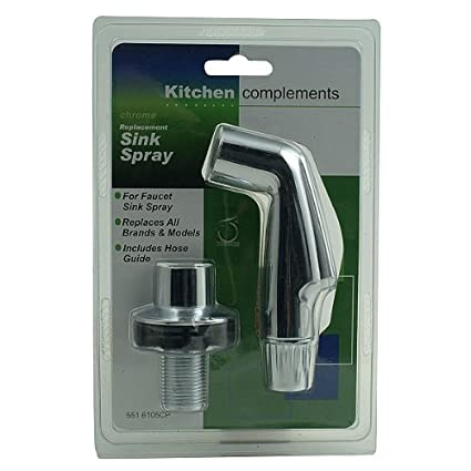 Chrome Replacement Sink Spray Head With Hose Guide Faucet Spray