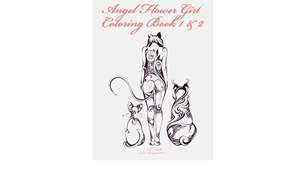 Amazon.com: Angel Flower Girl Coloring Book 1 & 2: Angels, Demons ...