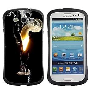 Suave TPU GEL Carcasa Funda Silicona Blando Estuche Caso de protección (para) Samsung Galaxy S3 I9300 / CECELL Phone case / / Fire Flame Black Smoke Art Light Bulb Deep /