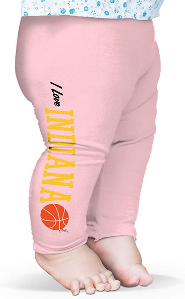 Twisted Envy Baby Pants I Love Indiana Basketball Baby and Toddler Girls Leggings