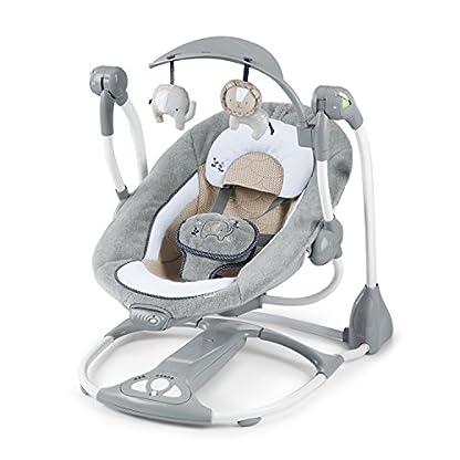 Ingenuity, Townsend 2 in 1 Babyschaukel und -sitz, zusammenklappbar, mit Vibrationen, 5 Schaukelgeschwindigkeiten, mehr als 8 Melodien und Lautstärkeregler 1