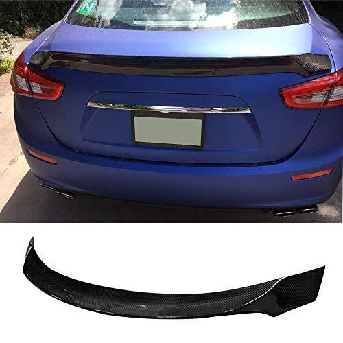 Fandixin Ghibli Spoiler, Carbon Fiber Rear Trunk Deck Lip Boot Spoiler Wing for Maserati Ghibli 2014-up