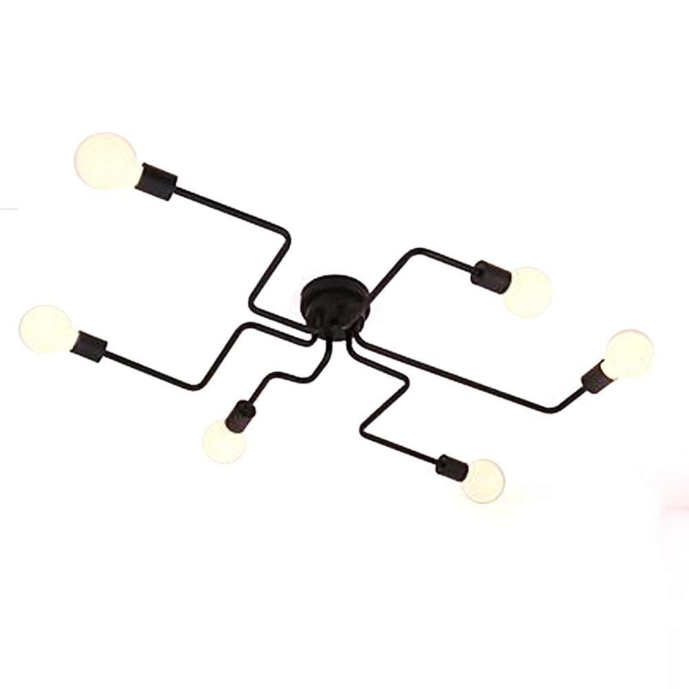 Aero Snail Retro Creative Metal Flush Mount 6-Light Cafe Bar Ceiling Lamp Chandelier Lighting Fixure