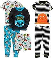 Simple Joys by Carter's Baby-Boys 6-Piece Snug Fit Cotton Pajama Set Pajama
