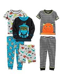 Simple Joys by Carter's Baby, Little Kid, and bebé Boys 'Juego de Pijama de algodón de Ajuste cómodo de 6 Piezas