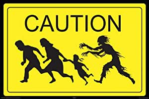 NMR 24996 Zombie Caution Decorative Poster