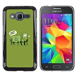 TopCaseStore / la caja del caucho duro de la cubierta de protección de la piel - Retro Music Love Life Time Funny Quote - Samsung Galaxy Core Prime SM-G360
