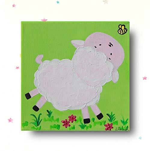 Kinderzimmer bilder Schaf Bauernhoftiere Leinwandbilder Kinderzimmer ...