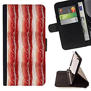 Super Marley Shop - Leather Foilo Wallet Cover Case with Magnetic Closure FOR Samsung Galaxy S3 MINI I8190- Bacon