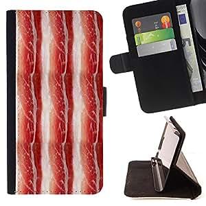 - Bacon - - Monedero pared Design Premium cuero del tir?n magn?tico delgado del caso de la cubierta pata de ca FOR HTC Desire 820 Funny House