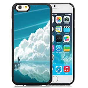 NEW Fashion Custom Designed Cover Case For iPhone 6 4.7 Inch TPU Clouds Reflection Black Phone Case