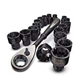 "Craftsman 19 Piece Universal Max Axess 3/8"" Drive Socket and Ratchet Set, 9-39119"
