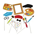 Fun Express Little Artist Party Photo Stick Props - 12 pc