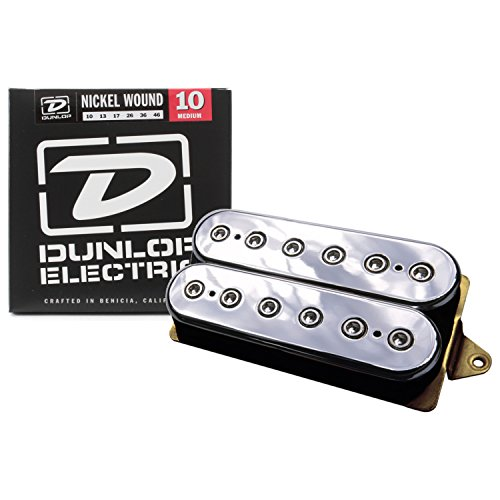 - DiMarzio DP100 F-Spaced Super Distortion Humbucker Bridge Humbucker Pickup, Chrome Tops w/ Strings