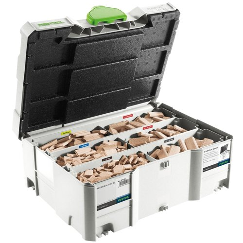 Festool 498899 Assorted Domino Beech Tenons and Cutters in T-Loc Systainer from Festool