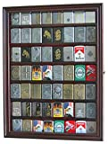 zippo case display - 56 Sport/Military Cigarette Lighter Display Case Rack Holder Cabinet, (Mahogany Finish)