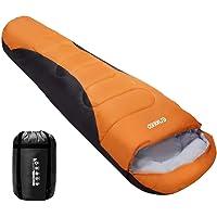 ENKEEO Mumienschlafsack 230 * 80 cm Winterschlafsack Camping Deckenschlafsack Kompression Schlafsack Wasserdicht