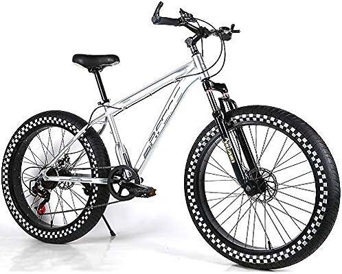 YOUSR Bicicleta de montaña para niños Suspensión de Horquilla Suspensión Completa Bicicleta de montaña Shimano 21 Speed Shift Bicicleta para Hombre y Bicicleta para Mujer Silver 26 Inch 21 Speed: Amazon.es: Hogar