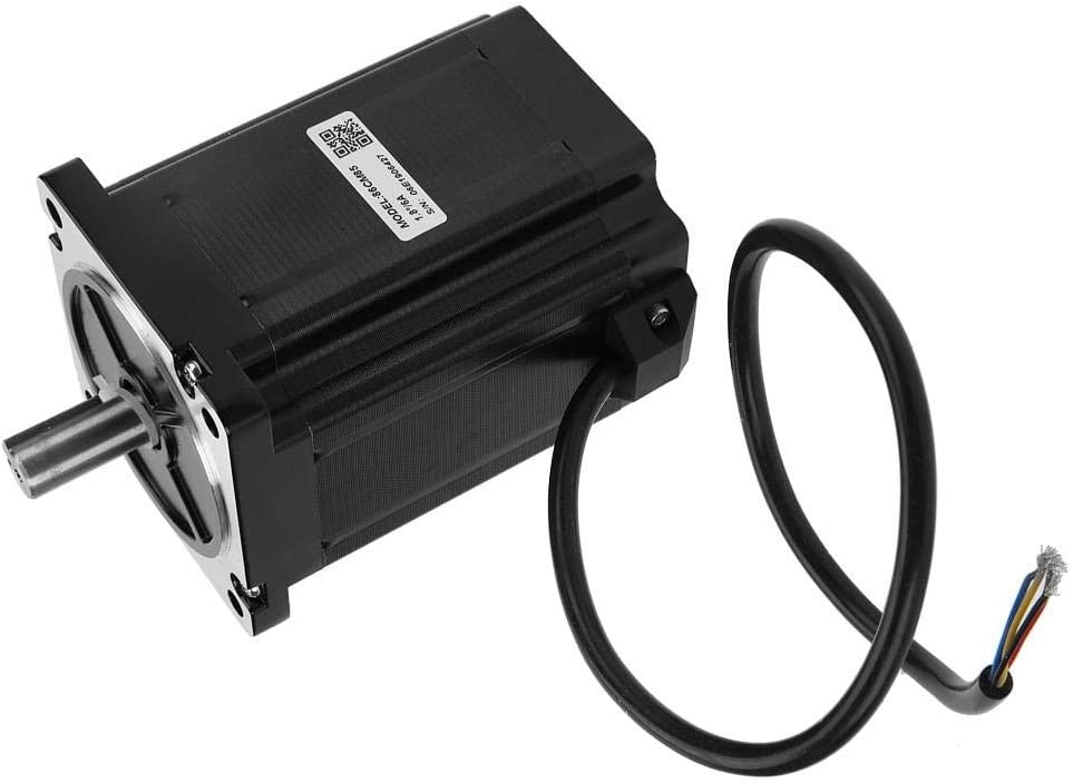 Science Experiments Stepper Motor Kit DIY Toys 86CM85 2-Phase Stepping Motors NEMA34 8.5N.m 6A Shaft Diameter 12.7mm for Industrial Control CHUNSHENN Motor Drives