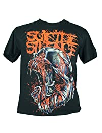 Suicide Silence Extra Large Size New! T-Shirt (Ss Infested Skull) 1194