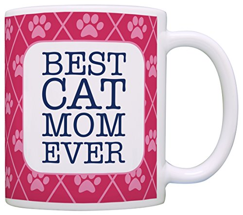 Cat Gifts for Women Best Cat Mom Ever Cat Lover Gifts for Women Cat Gifts for Girls Cat Coffee Mug Gift Coffee Mug Tea Cup Pink