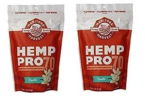 Manitoba Harvest Hemp Pro 70 Protein Supplement, Vanilla, 11 Ounce (Pack of 2)