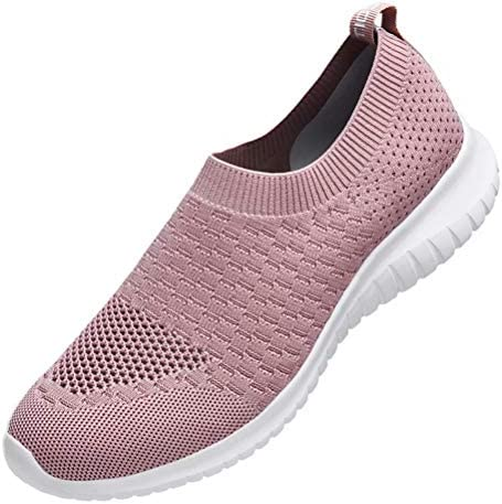 Lightweight Athletic Casual Gym Slip on Sneakers konhill Womens Walking Tennis Shoes