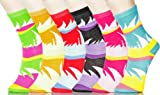 Lady's the Flamingo Novelty Crew Socks - Dozen Pack