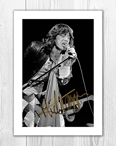 Engravia Digital Mick Jagger - The Rolling Stones 1 SP - Signed Autograph Reproduction Photo A4 Print (Print Only)