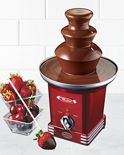 082677215512 - Nostalgia RFF600RETRORED Retro Series 3-Tier Chocolate Fountain carousel main 1
