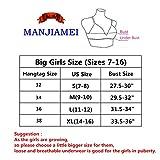 4 Pack of MANJIAMEI Teens Girls Cotton Bras