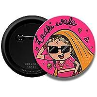 Ladki wale Wedding Pinback Button Badge 58mm - Creator Store