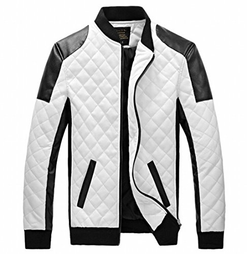 EASY-Mens-New-Winter-Faux-Leather-coat-Thicken-Jacket