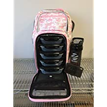 6 Pack Fitness Expedition Backpack W/ Removable Meal Management System 500 Pink & Grey Digital Camo w/ Bonus ZogoSportz Cyclone Shaker