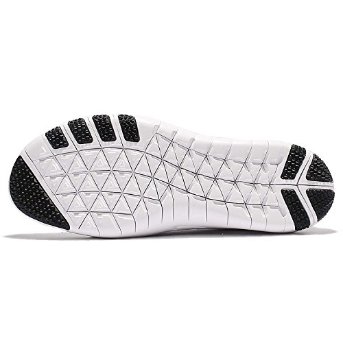Nike Wmns Focus Focus Flyknit 2 Womens Cross Training Scarpe Bianco / Nero-lupo Grigio