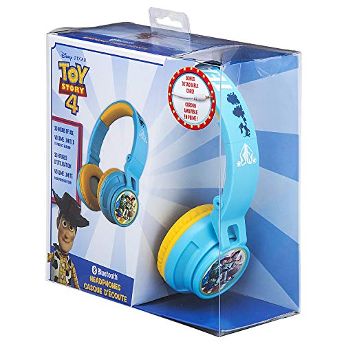 51i4pIbODKL - eKids B50 Toy Story 4 Kids Bluetooth Headphones for Kids Wireless Rechargeable Foldable Bluetooth Headphones with Microphone Kid Friendly Sound & Bonus Detachable Cord