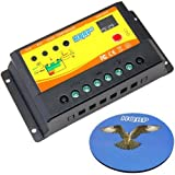 HQRP 10 Amp 12V / 24V Solar Charge Power Controller / Regulator 10A