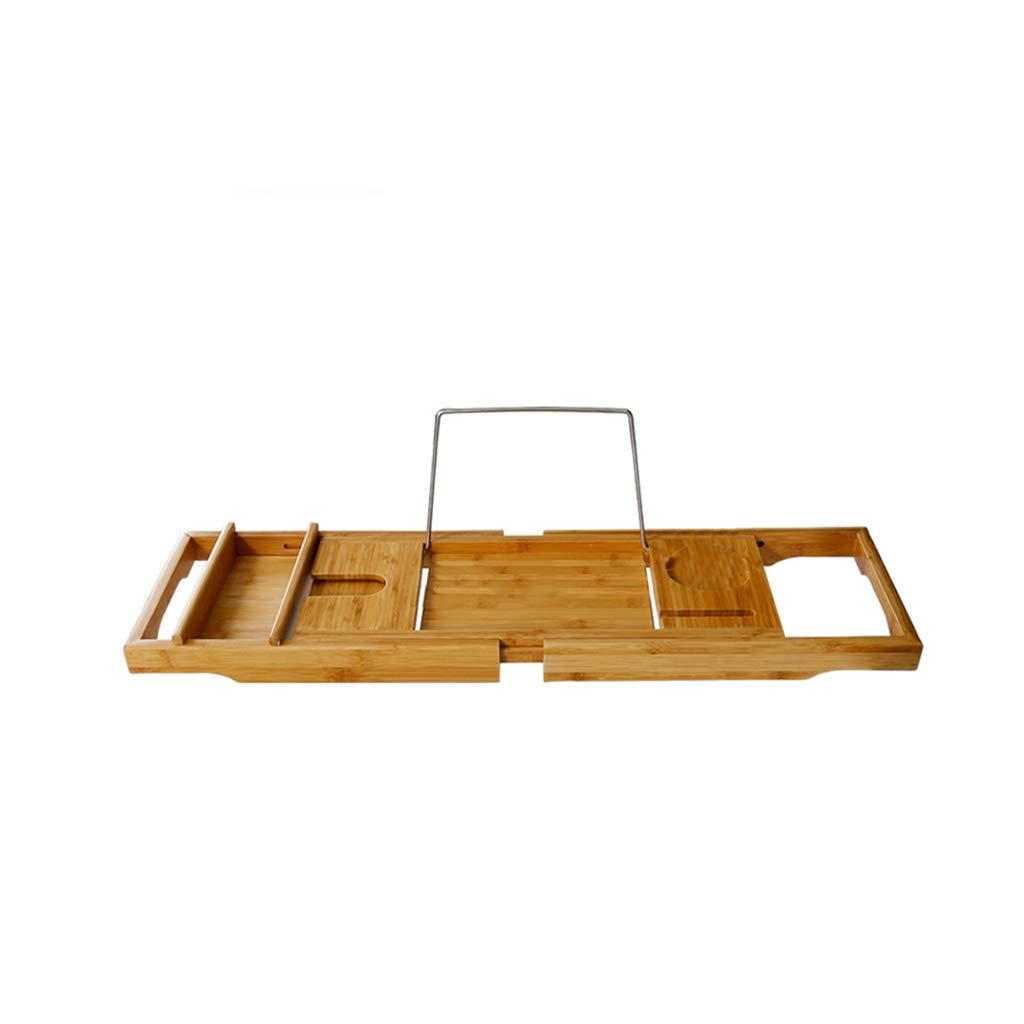 MboT Bathtub Stand, Bamboo Wood Non-Slip Bathtub Stand Adjustable Telescopic tub Bathtub Bracket Bathtub Tray Tray Shelf Bracket Size: 74.5-108.622.6cm